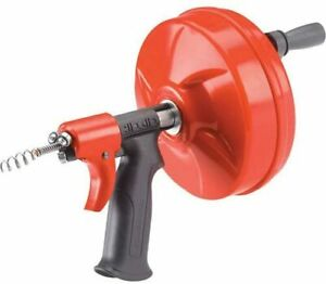 Ridgid Gidds 813340 41408 Power Spin Autofeed Maxcore Drain Cleaner Cable Clogs