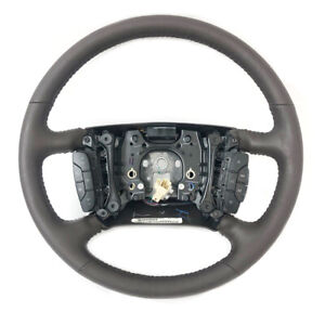 Gm Steering Wheel Cadillac Dts 2006 2011 Cocoa Brown W Black Accents 25922696