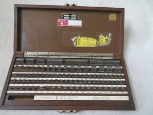 Vintage Icc Starrett 86 Piece Gage Block Set Case Gauge Jo Joe