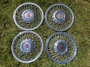 Oldsmobile 1980 S Wire Wheel Style 15 Hubcaps Wheel Covers Hub Caps Olds Gm