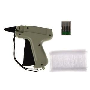 Clothes Tag Price Tagging Gun Label Machine Kit With 5 Needles 1000 Kimble Barbs