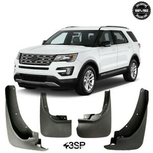 For 2011 2018 Fits Ford Explorer Splash Guards Mud Flaps Front And Rear 4pcs Set