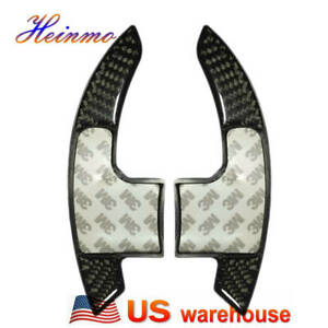 Carbon Fiber Steering Wheel Shift Paddle Shifter Decor For Ford Mustang 2015 20