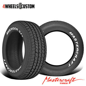 2 X New Mastercraft Avenger G T 225 70r15 100t Muscle Car Performance Tire