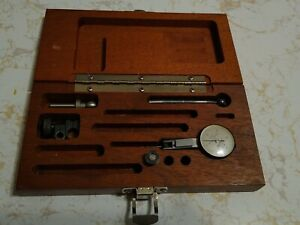 Brown Sharpe 7030 3 0005 Best Test Dial Indicator W Wooden Box