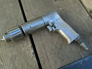 Vintage Japan Mac Tools Pneumatic Air Drill Reversible Jacobs Chuck 3 8 Usa