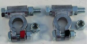 Pair Of Military Battery Terminals With Covers