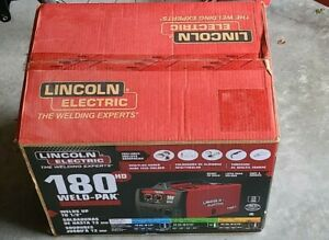 Lincoln Electric Weld pak 180hd K2515 1 Mig Flux cored Welder Brand New