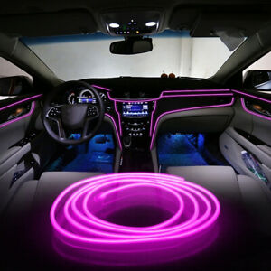 Pink Led Auto Car Interior Decor Atmosphere Wire Strip Light Lamp Accessories