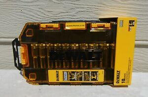 Dewalt Sae Drive Deep Socket Set 10 Piece 1 2 Chrome Vanadium