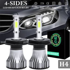 4 side Cob Led Headlight Bulbs Set H4 Hb2 9003 120w 16000lm 6000k Lamp Car Light