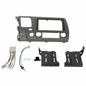 Double Din Radio Install Dash Kit Wiring Harness Fits 2006 2011 Honda Civic