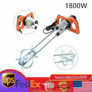 Industrial 1800w Electric Concrete Cement Mixer Thinset Grout Mud Mixing Mortar