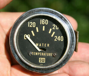 Stewart Warner Vintage 2 1 16 12v Electric Water Temperature Gauge