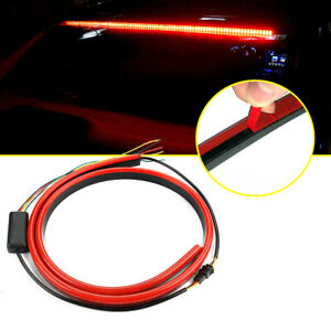 40 Car Red Led Rear 3rd Brake Strip Driving Warning Light Turn Signal Accessory