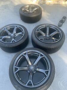 Nissan 2013 370z Nismo Oem Rays Forges V1 Rims And Tires Full Set 4
