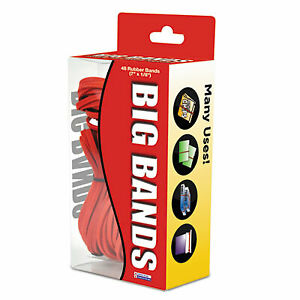 Big Bands Rubber Bands Size 117b 0 07 Gauge Red 48 box 00699 00699 1