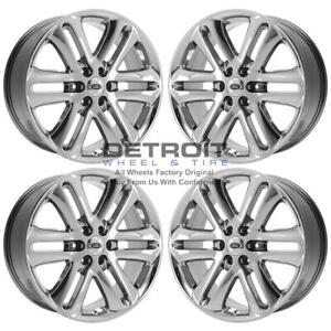 22 Ford F150 Pvd Bright Chrome Wheels H Rims Factory Oem 3918 Exchange 2004