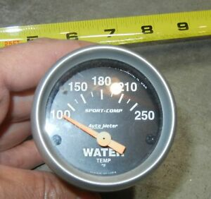 Used Autometer Sport Comp Electric Water Temperature Gauge 100 250 2 1 16