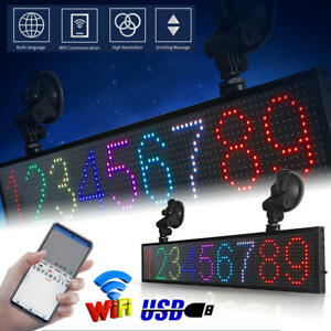 Ultra thin Led Car sign Programmable Scrolling Message Display Board With Sucker