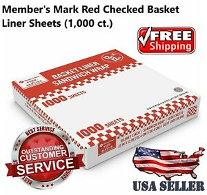 Restaurant Deli Paper Food Basket Liner Wrap 12 x12 Red Checkered 1000ct