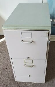 Office File Cabinet Vintage 1950 s Heavy Duty 2 Drawer Vertical Pickup Only