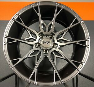 Niche Staccato Satin Grey Wheels 20x10 5 Audi S5 6 7 A5 6 7 Rs7 5x112 Vossen Hre