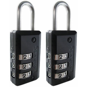 Master Lock 646t Set Your Own Combination Luggage Lock 2 Pack Black Sale