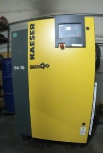Purchased 2012 Kaeser Sk 15 Rotary Air Compressor 15hp 71 Cfm 125 Psig