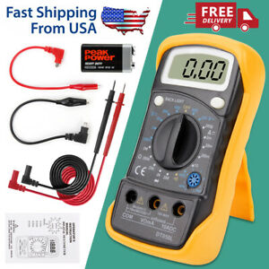Digital Multimeter Ammeter Ac Dc Voltage Ohmmeter Tester Meter Auto Range Us