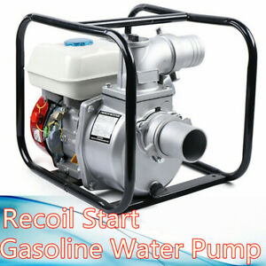 Gasoline Powered Water Pump Flood Irrigation Portable 7 5 Hp Water Transfer Pump