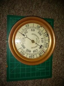 Vintage Brass Cast Iron Pressure Gauge From Standard Oil Shipping Vessel