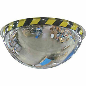 Acrylic Full Dome Mirror With Safety Border 36 Diameter