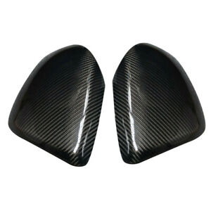 Pair Side Wing Door Rearview Mirror Cover Cap Fit For Mazda 3 Speed3 2010 2013