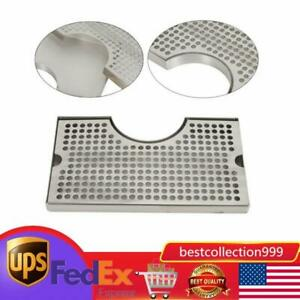 Stainless Steeltap Draft Beer Kegerator Tower Drip Tray Surface Mount No Drain