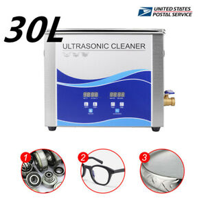Ultrasonic Cleaner Cleaning Machine Liter Industry Heated W Timer Heater 30l Us