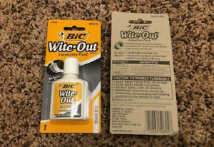 Bic Wite Out White Out Correction Fluid Quick Dry New In Package Free Shipping
