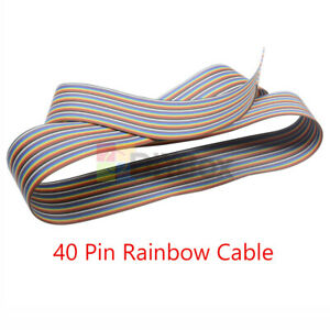 3 3ft 40 Way 40 Pin Flat Color Rainbow Ribbon Idc Cable Wire Rainbow Cable 1m