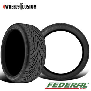 2 X Federal Ss595 195 60r14 All Season Performance Tires