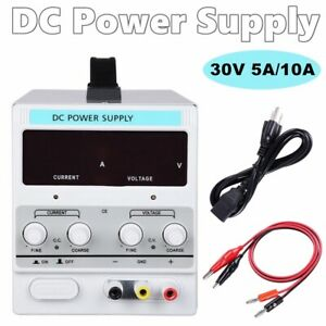 5a 10a 30v Adjustable Dc Power Supply Precision Variable Dual Digital Lab Test