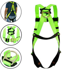 Full Body Safety Harness Fall Protection 3d ring Back Support Belt 45mm