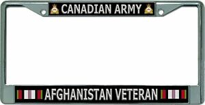 Canadian Army Afghanistan Veteran Chrome License Plate Frame