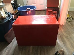 9 Drawer Red Tool Chest Box Cabinet 26 Inches Wide By Snap On Tool Ex Cond