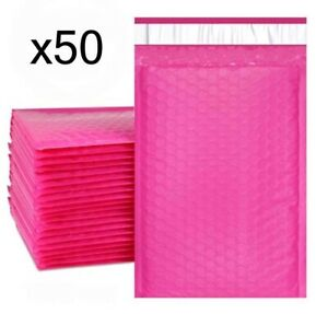 50 Bubble Mailers Pink 6x10 Packaging Shipping Supplies 0