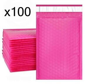 100 Bubble Mailers Pink 6x10 Packaging Shipping Supplies 0