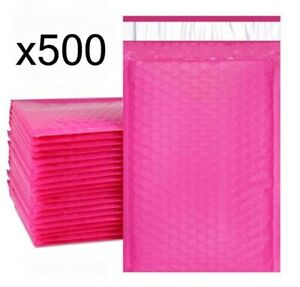 500 Bubble Mailers Pink 6x10 Packaging Shipping Supplies 0