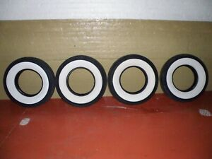 Set Of 4 B F Goodrich Silvertown Wide Whitewall 7 50 17 4 Ply Used Tires