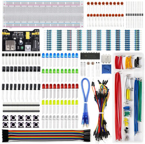 Electronics Component Fun Kit W Power Supply Module Jumper Wire 830 Tie point