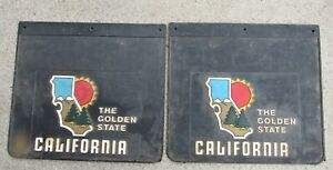 2 Cool Vintage 70s Califronia The Golden State Mud Flaps Splash Guards Rubber