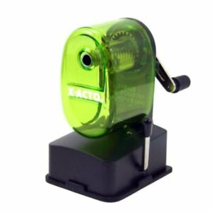 X acto Bulldog Vacuum Pencil Sharpener Steel Cutter Green New